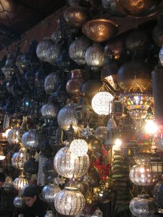 Moroccan shopping: lanterns via visit Morocco/pinterest