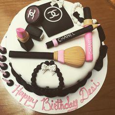Makeup Birthday Cake Beautiful Chanel Designer Fashion Brush Lipstick Gloss Dope Desi Perkins Makeup Artist