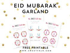 Eid Mubarak Garland - Free Printable <3