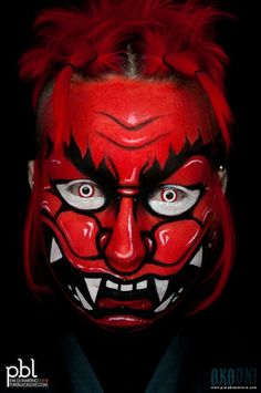 Aka Oni Promo (2010) | I realized this facepaint for a conte… | Flickr
