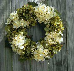 Summer Wreath For The Door-Hydrangea Wreath -Year Round Wreath