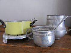 Französischer Vintage Set Metall Küche Antike Französische Land Kaffee Play  Set Blechspielzeug Rustikale Küche Aluminium Topf Primitive Küche Spielzeug