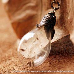 Charm Dandelion Long Necklaces,Wish Glass Jewelry