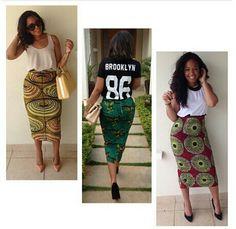 Midi Ankara Skirts