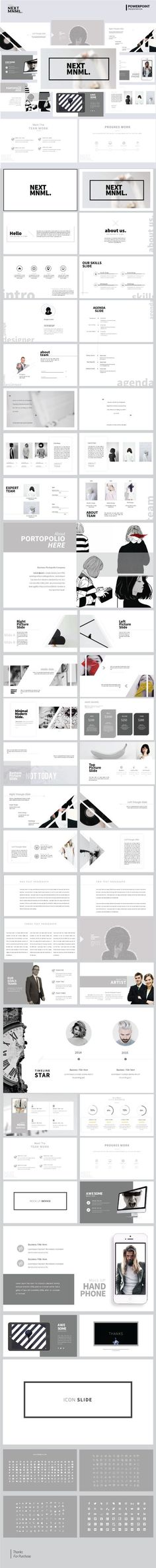 Next Mnml  Multipurpose PowerPoint Template — Powerpoint PPT #biz #swot analysis • Available here ➝ https://graphicriver.net/item/next-mnml-multipurpose-powerpoint-template/20593549?ref=pxcr