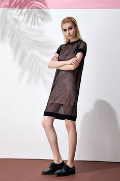 Front Row Shop Mesh Perspective Double Layer Dress, $28.80, available at Front Row Shop