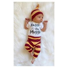 Baby boy coming home outfit harry potter by PinkPineappleCouture