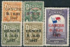 Francobolli - Lotta contro il cancro - Fight against cancer - Stamps Panama 1947