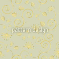 Gold Flora designed by Anny Cecilia Walter available on patterndesigns.com Vector Pattern, Pattern Design, Flora Design, Surface Design, Special Day, Patterns, Gold, Wedding, Art