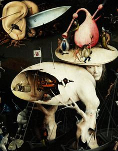 Hieronymus Bosch - Garden of Earthly Delights, detail, c.1500