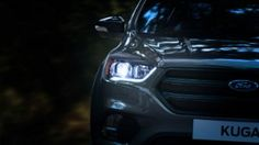 Ford Kuga front view in the dark, headlights, auto-high beam