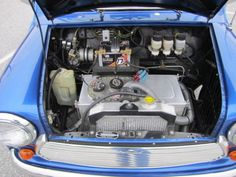 Learn more about Mid-Mounted Honda Turbo: 1970 Mini on Bring a Trailer, the home of the best vintage and classic cars online. Mini Cooper Classic, Classic Cars Online, Rally, Minis, Honda, Engineering, Big, Vehicles, Frame