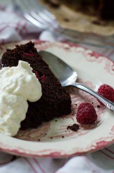 Louise´s Spis: Raspberry Ricotta Chocolate Cake (Chokladkaka med Hallon och Ricotta*) ~ *diy
