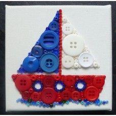 Button Art Sailing Boat