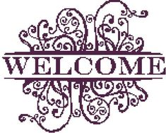 Welcome a Counted Cross Stitch Pattern by WooHooCrossStitch