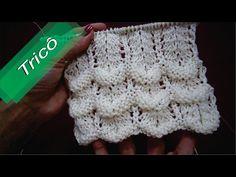 DIY - Tricô - Ponto Fantasia 09 (Passo a Passo) Mari Trentini - YouTube