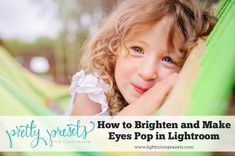 Do you want to know how to easily brighten eyes and make them pop using Lightroom? Our tutorial show you how to easily enhance eyes, using our incredibly popular Lightroom Portrait Brushes! Lightroom Vs Photoshop, Lightroom Tutorial, Photoshop For Photographers, Photoshop Photography, Photography Basics, Love Photography, Children Photography, Make Eyes Pop, Pretty Presets