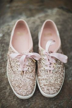 f591f7419 Bridal shoe idea - sequin Kate Spade sneakers {Relic Photographic} Bride  Sneakers, Wedding