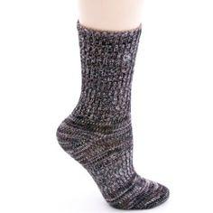 Black Socks Wool Cashmere Blend Men/'s Crew Length Size 10-13 Nouvella