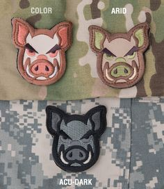 Check out the best tactical gear and equipment, including the Mil-Spec Monkey Pig Head Patch. Funny Patches, Cool Patches, Pin And Patches, Paintball Funny, Paintball Gear, Fun Police, Badges, Tactical Life, Velcro Patches