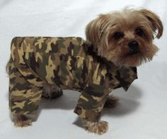 """Camoflauge Pants and Jacket  Size Small  All designed for dogs  Very COMFORTABLE, and STYLISH  New in Poly Bags on a Hanger  All items are of my Dog Apparel Line  Rock'N'Pooches  Sizing Chart  Size         Neck    Girth    Length  Small      8"""" 12""""  14"""" 17"""" 11"""" 14""""  Never been worn   Boutique Quality  Free Shipping  All on Ebay  http://www.ebay.com/itm/221056846600?ssPageName=STRK:MESELX:IT&_trksid=p3984.m1555.l2649"""