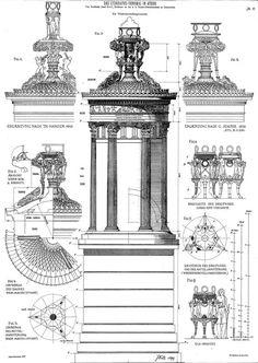 The Lysicrates Monument (DAS LYSIKRATES-DENKMAL). Von Architekt Josef Dell, Professor an der k. k. Staats-Gewerbeschule in Gzernowitz / Athens