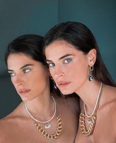 Mediterranean People, Greek Model, Diamond Earrings, Pearl Necklace, Pearls, Beauty, Jewelry, Women, Fashion