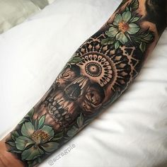 Tattoo Sleeves Mexican Skull