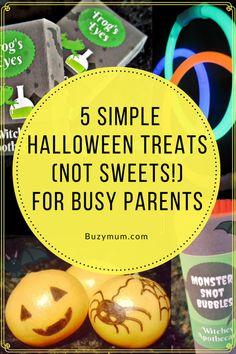 Buzymum - 5 Simple Halloween Treats (not Sweets!) for Busy Parents