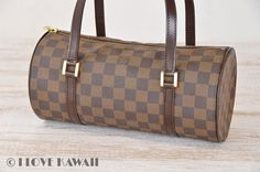 Louis Vuitton Damier Ebene Papillon 26 Hand Bag N51304