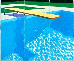 David Hockney | Diving Board with Shadow, 1978