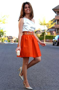 Falda y top Oh My Looks 16-4-2014  Skirt/Falda : Oh My Looks Shop (info@ohmylooks.com) ; Top/Blusa : Oh My Looks Shop (info@ohmylooks.com) ; Shoes/Zapatos : Pilar Burgos (New collection) ; Clutch/Bolso : Fahoma (old)
