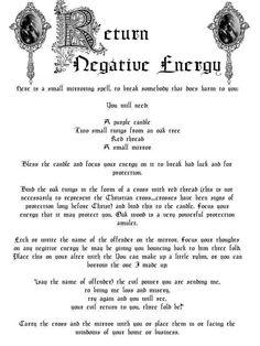 Spell to Return Negative Energy
