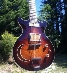 Bad Moon Semi-Hollow - Handmade Guitars and Custom Electric Instruments - Ronin Guitars are hand made from Salvaged Old-Growth Redwood