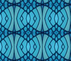Blue Retro 02 fabric by artlovepassion on Spoonflower - custom fabric