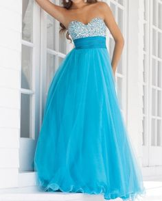Blue Gorgeous Sweetheart Neck Sequins Flounce Women's Lace Up Floor Length Prom Dress Backless Prom Dresses, Blush Dresses, Prom Dresses Blue, Pretty Dresses, Strapless Dress Formal, Flower Girl Dresses, Formal Dresses, Prom Gowns, Formal Prom