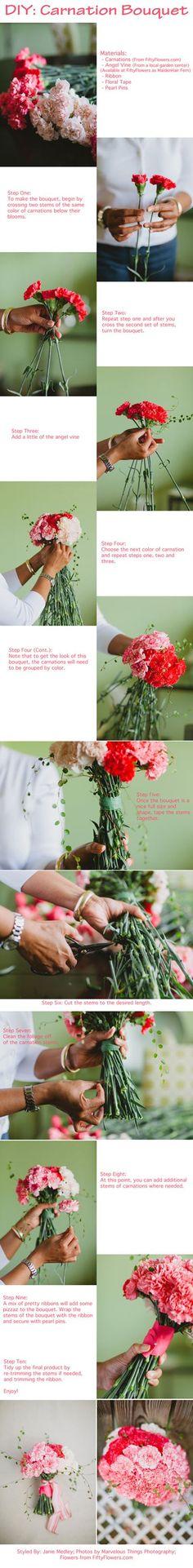 DIY Carnation Bouquet! #DIY #Wedding #Bouquet