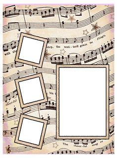 ArtbyJean - Vintage Sheet Music: Set 003 - Vintage Sheet Music Free Clipart Biege Tan - Scrapbook Layout Pages Printable Scrapbook Paper, Printable Crafts, Scrapbook Pages, Printables, Cruise Scrapbook, School Scrapbook, Vintage Sheet Music, Vintage Sheets, Vintage Clip