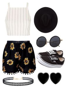 """""""Field day"""" by tebroeksma ❤ liked on Polyvore featuring Topshop, Brixton, Vans, LULUS and Dollydagger"""