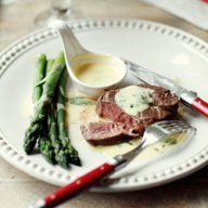 Stek z sosem béarnaise i szparagami Beef, Chicken, Meat, Steak, Cubs