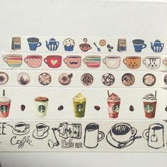 Washi Tape Sample - Coffee by SarahiousPlanz on Etsy https://www.etsy.com/listing/290171101/washi-tape-sample-coffee
