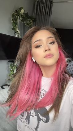 Things I need: A pink peekaboo 😍💘 @lailadavies_ in Electric Paradise 💕#AFelectricparadise Hair Color Pink, Pink Hair, Bright Hair, Bright Pink, Semi Permanent Hair Dye, Arctic Fox Hair Color, Free Hair, Pink Aesthetic, Summer Hairstyles