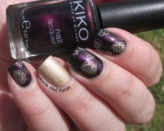 The Clockwise Nail Polish: Kiko 497 Viola Indiano Perlato & OPI Love Angel Music Baby