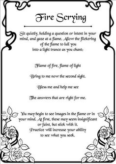 Fire Scrying - Pinned by The Mystic's Emporium on Etsy