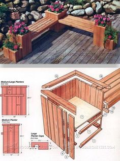 Planter Bench Plans - Outdoor Furniture Plans and Projects | WoodArchivist.com