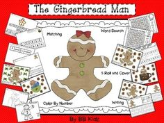 These are a few activities to go with my other Gingerbread Man units...2 Word Searches1 Build a Sentence activity 2 Matching Uppercase to Lowercase Letters5 Roll and Cover Dice Gameboard3 Roll and Cover Recording Sheet3 Color By Code Page2 Writing lined pages2 Word Bank Writing pagesBy BB Kidz