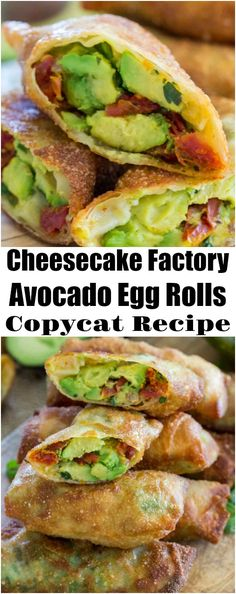 Factory Avocado Egg Rolls Copycat Cheesecake Factory Avocado Egg Rolls Copycat Recipe so you can enjoy these crunchy, delicious, creamy and tasty egg rolls at home any time you want, without the restaurant price tag.Rolls-Royce Rolls-Royce may refer to: Avocado Toast, Avocado Egg Rolls, Avocado Roll, Keto Avocado, Baked Avocado Egg, The Cheesecake Factory, Egg Roll Recipes, Avocado Recipes, Healthy Recipes