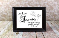 Let Love Sparkle Sparkler Send Off with by OurHobbyToYourHome
