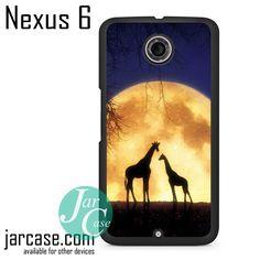Giraffes Romantic Moon Phone case for Nexus 4/5/6