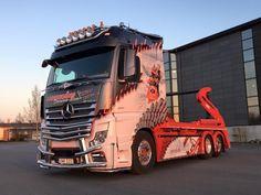 MB Lifted Trucks, Big Trucks, Trailers, Mercedes Benz Trucks, Custom Big Rigs, Truck Design, Custom Paint, Motorcycles, Busse